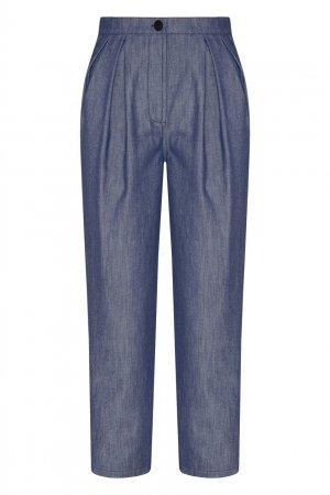 Синие брюки из хлопка Chapurin. Цвет: синий