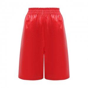 Кожаные шорты Bottega Veneta. Цвет: красный