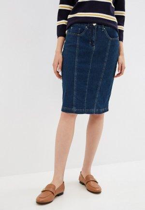 Юбка джинсовая Micha. Цвет: синий