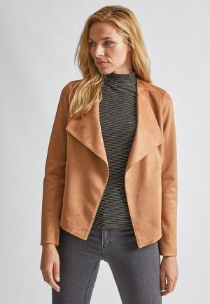 Куртка кожаная Dorothy Perkins. Цвет: бежевый