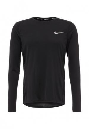Лонгслив спортивный Nike Mens Miler Long-Sleeve Running Top. Цвет: черный