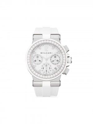 Наручные часы Diagono pre-owned 35 мм 2020-го года Bvlgari. Цвет: белый