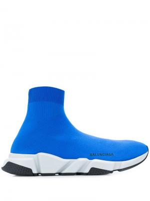 Speed sneakers Balenciaga. Цвет: синий