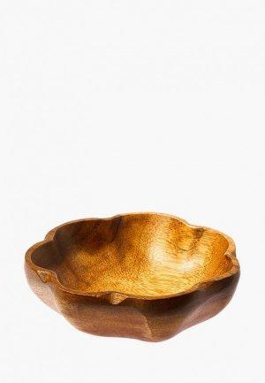 Салатник Oriental way 25*25 см. Цвет: коричневый