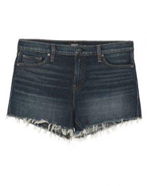 Джинсовые шорты HUDSON. Цвет: синий