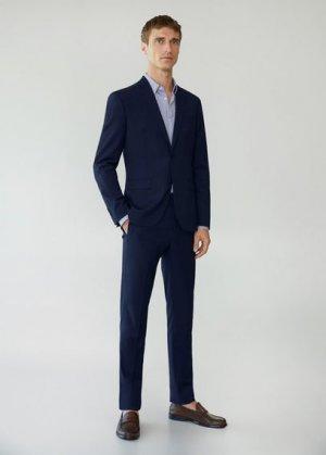 Костюмный пиджак super slim fit с мелкой фактурной выделкой - Paulo Mango. Цвет: глубокий темно-синий