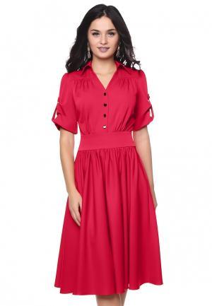 Платье Grey Cat KLAIYDY. Цвет: красный