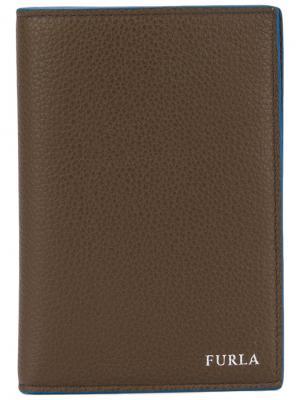 Обложка для паспорта Furla. Цвет: коричневый