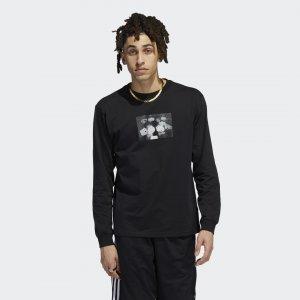 Лонгслив Zander Photo (Унисекс) Originals adidas. Цвет: черный