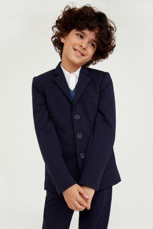 Пиджак для мальчика Finn-Flare. Цвет: темно-синий