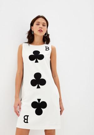 Платье Boutique Moschino. Цвет: белый