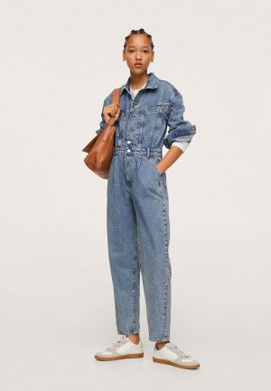 Комбинезон джинсовый Mango GILLIAN. Цвет: голубой
