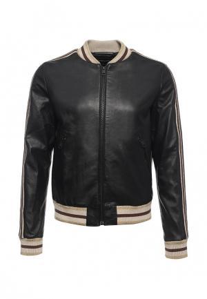 Куртка кожаная Just Cavalli JU662EMOPD33. Цвет: черный