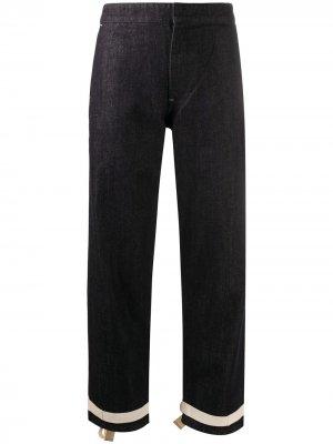 Укороченные джинсы с бантами Jil Sander. Цвет: синий