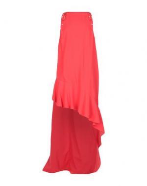 Длинное платье PINKO. Цвет: красный