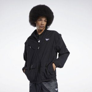 Олимпийка-кардиган CL FS ZIP OFF JACKET Reebok. Цвет: black