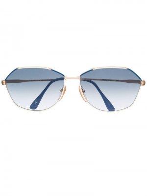 Солнцезащитные очки 1970-х годов с градиентными линзами Jean Louis Scherrer Pre-Owned. Цвет: белый