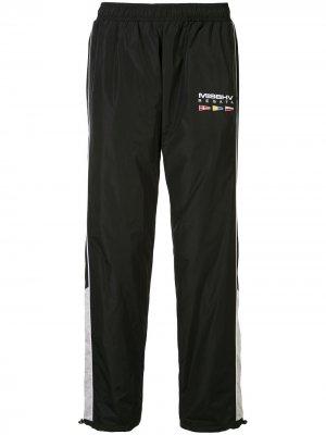 Спортивные брюки с вышитым логотипом MISBHV. Цвет: черный
