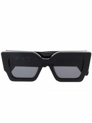 Солнцезащитные очки Catalina Off-White. Цвет: черный