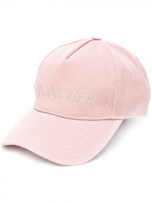 Бейсболка с вышитым логотипом Moncler. Цвет: розовый