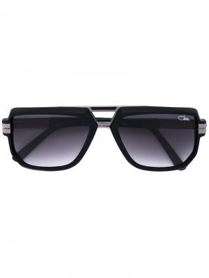 Солнцезащитные очки с прямоугольной оправой Cazal. Цвет: черный