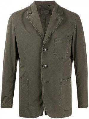Пиджак с длинными рукавами и карманами Aspesi. Цвет: серый