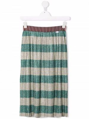 TEEN plissé-detail skirt Molo. Цвет: нейтральные цвета