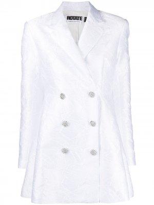 Платье-блейзер Fonda ROTATE. Цвет: белый