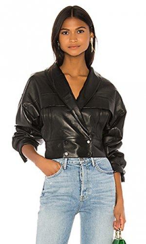 Кожаная куртка billie LPA. Цвет: черный