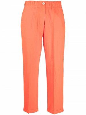 Укороченные брюки с завышенной талией Alysi. Цвет: оранжевый