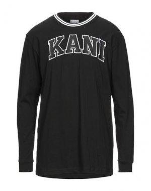 Футболка KARL KANI. Цвет: черный