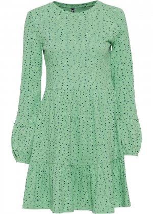 Платье трикотажное bonprix. Цвет: зеленый