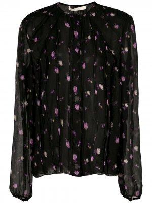 Блузка с цветочным принтом Jason Wu Collection. Цвет: черный