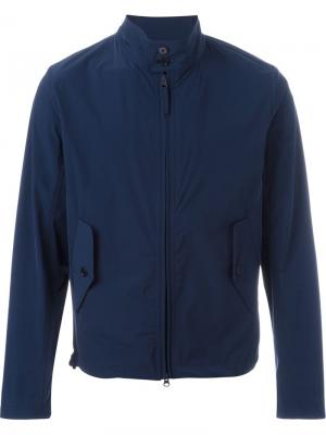 Куртка-бомбер с карманами клапанами Aspesi. Цвет: синий