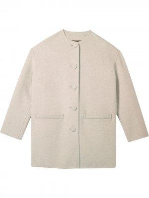 Кардиган пальто свободного кроя с круглым вырезом Marc Jacobs. Цвет: серый