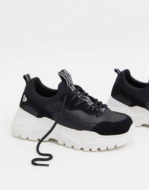 Черные кроссовки на массивной подошве B-Rad-Черный Skechers