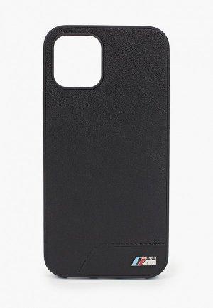Чехол для iPhone BMW 12/12 Pro (6.1), M-Collection PU Smooth Black. Цвет: черный