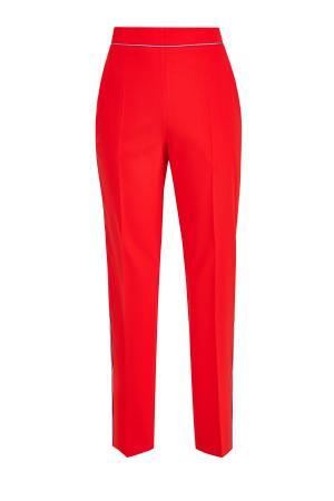 Зауженные книзу брюки с контрастной тесьмой ETRO. Цвет: красный
