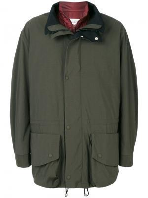 Пальто со съемным жилетом Maison Margiela. Цвет: зелёный