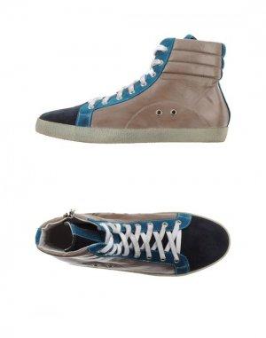 Высокие кеды и кроссовки ALLUMINIO. Цвет: темно-синий