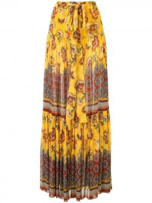Ярусная юбка Erris Alexis. Цвет: желтый