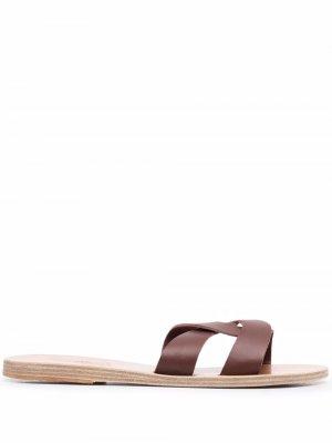 Сандалии Desmos с перекрестными ремешками Ancient Greek Sandals. Цвет: коричневый