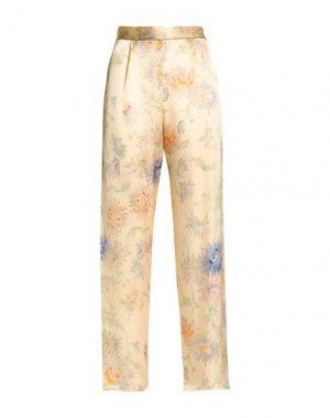 Повседневные брюки ANNA SUI. Цвет: бежевый