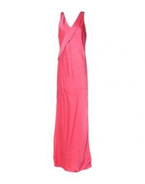 Длинное платье HELMUT LANG. Цвет: фуксия