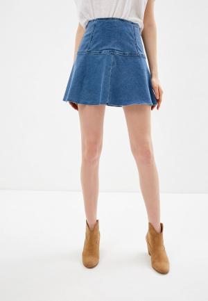 Юбка джинсовая Free People. Цвет: синий