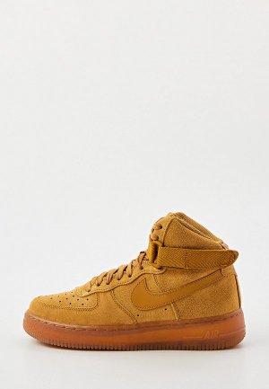 Кеды Nike AIR FORCE 1 HIGH LV8 3 (GS). Цвет: коричневый
