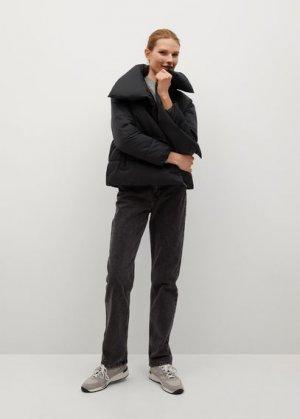 Анорак-пуховик с высоким воротником - John-i Mango. Цвет: черный