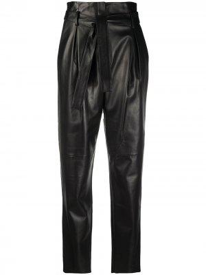 Зауженные брюки с присборенной талией Drome. Цвет: черный