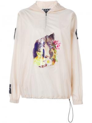 Куртка-ветровка с принтом MSGM. Цвет: телесный