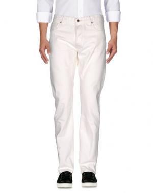 Джинсовые брюки KURO. Цвет: слоновая кость
